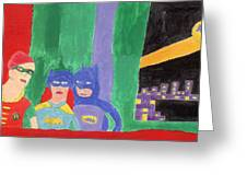 Gotham Heroes  Greeting Card by Don Larison