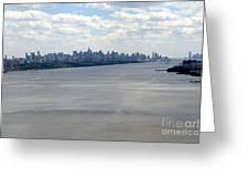 Gotham On The Hudson Greeting Card by David Bearden