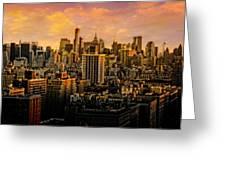 Gotham Sunset Greeting Card