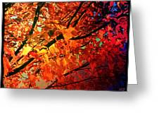 Gothic Autumn Leaves Greeting Card