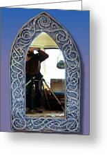 Gothic Celtic Frame Greeting Card by Charles Lucas