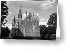 Gothic Church In Black And White Greeting Card