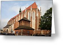 Gothic Church Of St. Catherine In Krakow Greeting Card