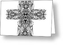 Gothic Cross Greeting Card