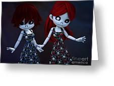 Gothic Rag Dolls Greeting Card
