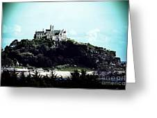 Gothic St Michael's Mount Cornwall Greeting Card