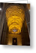 Gothic Vault Of The Seville Cathedral Greeting Card