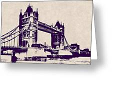 Gothic Victorian Tower Bridge - London Greeting Card
