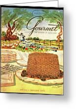 Gourmet Cover Featuring A Buffet Farm Scene Greeting Card