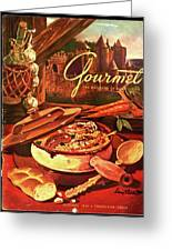 Gourmet Cover Featuring A Pot Of Stew Greeting Card