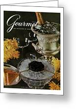 Gourmet Cover Featuring A Wine Cooler Greeting Card