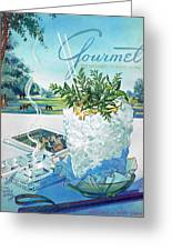 Gourmet Cover Illustration Of Mint Julep Packed Greeting Card