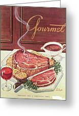 Gourmet Cover Of A Roast Beef Greeting Card