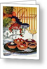 Gourmet Cover Of Fruit Tarts Greeting Card