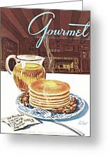 Gourmet Cover Of Pancakes Greeting Card