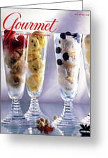 Gourmet Magazine Cover Featuring Ice Cream Greeting Card