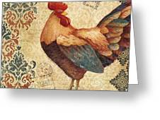 Gourmet Rooster Iv Greeting Card