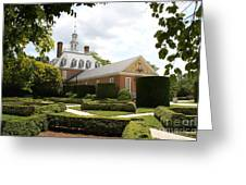 Governers Palace Garden Colonial Williamsburg Va Greeting Card