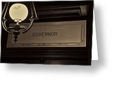 Governor Office Greeting Card