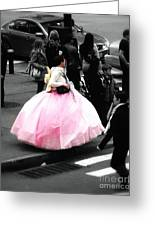 Gown Of Pink Greeting Card
