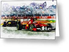 Gp Singapore F1  Greeting Card