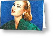 Grace Kelly Painting Greeting Card