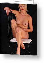 Grace Nude Relaxing On A Chair Greeting Card