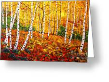 Graceful Birch Trees Greeting Card