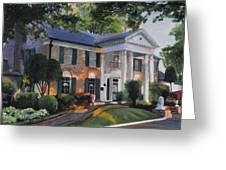 Graceland Home Of Elvis Greeting Card