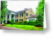Graceland Mansion Greeting Card