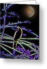 Grackle In The Willow Tree Greeting Card