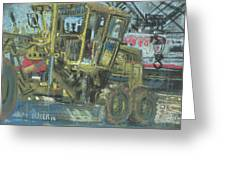 Grader Greeting Card