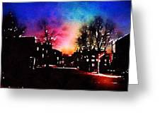 Graduate Housing Princeton University Nightscape Greeting Card
