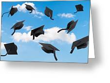 Graduation Mortar Boards Greeting Card