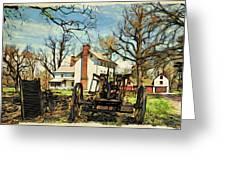 Graeme Park Farmhouse View Greeting Card