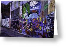 Graffiti Alley San Francisco Greeting Card