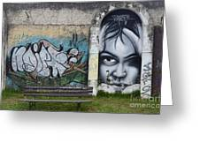 Graffiti Art Curitiba Brazil 1 Greeting Card by Bob Christopher