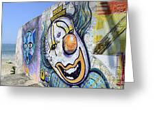 Graffiti Art Santa Catarina Island Brazil 1 Greeting Card by Bob Christopher
