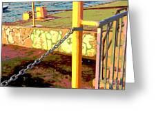 Graffiti Dock Greeting Card