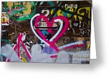 Graffiti Heart Greeting Card by Victoria Herrera
