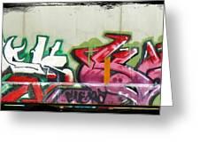Graffiti Hot Red Hot Pink Greeting Card