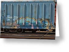 Graffiti - Ich - Blue On Blue Greeting Card