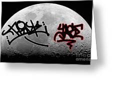 Graffiti On The Moon Greeting Card