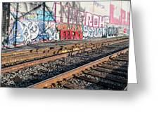 Graffiti On The Wall, Tenth Street Greeting Card