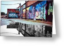 Graffiti Reflection Greeting Card