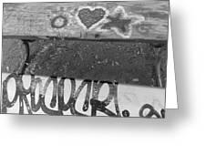 Graffiti Table 2 Greeting Card