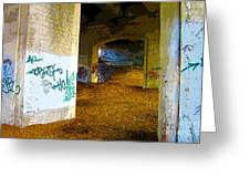 Graffiti Under The Bridge Greeting Card