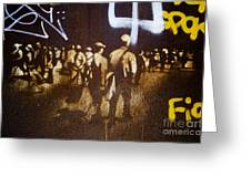 Graffiti Walk Together Greeting Card by Victoria Herrera