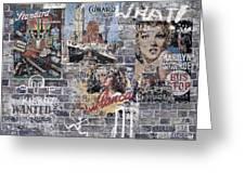 Graffiti Walls Greeting Card
