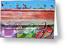 Graffiti With Flags Greeting Card